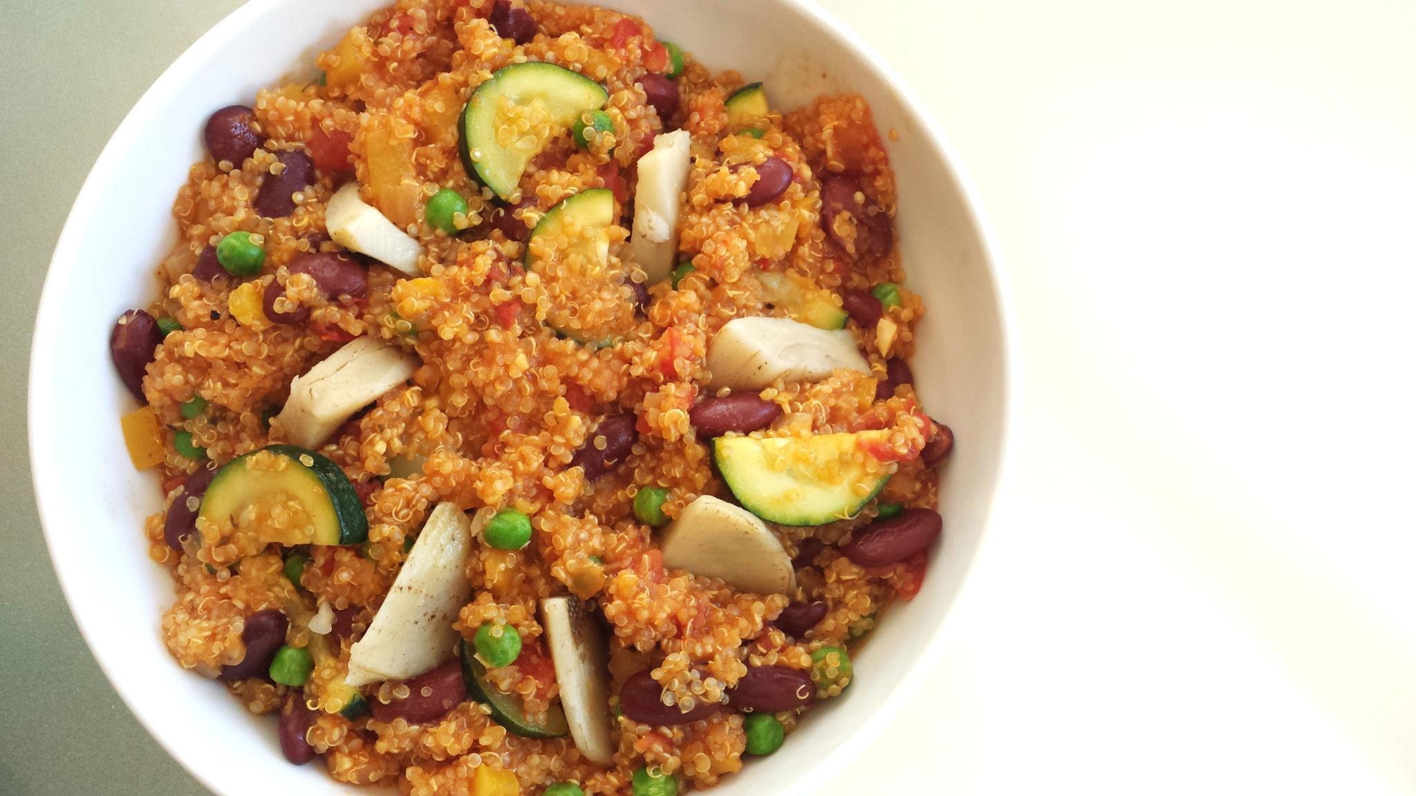 Vegetarian Quinoa Paella