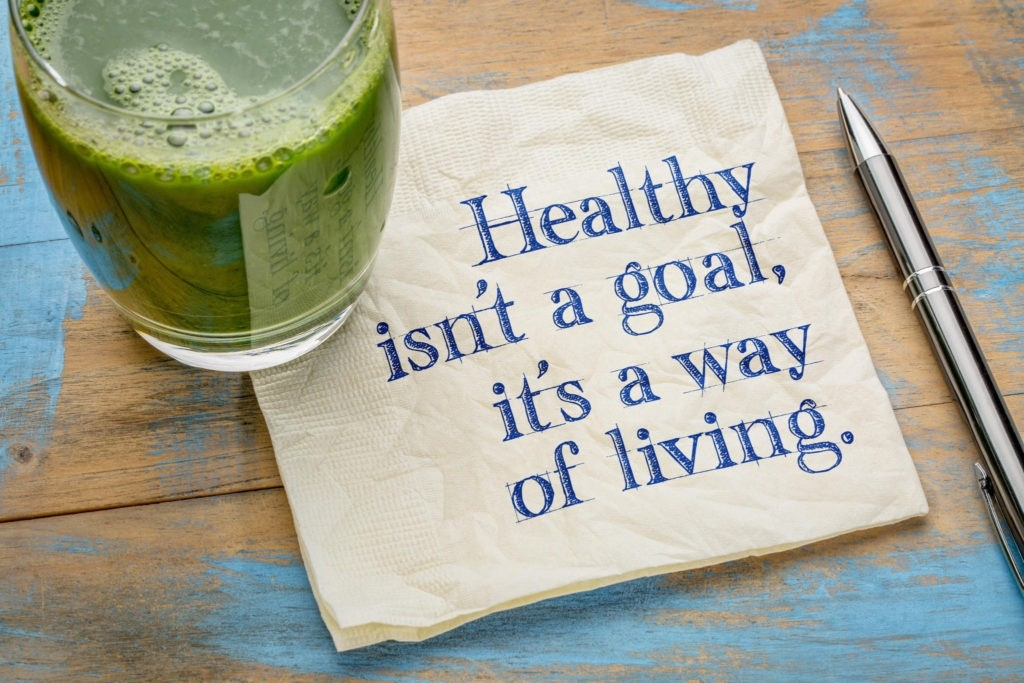 Image: Healthy isnt a goal, its a way of living