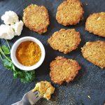 gluten-free curried cauliflower fritters
